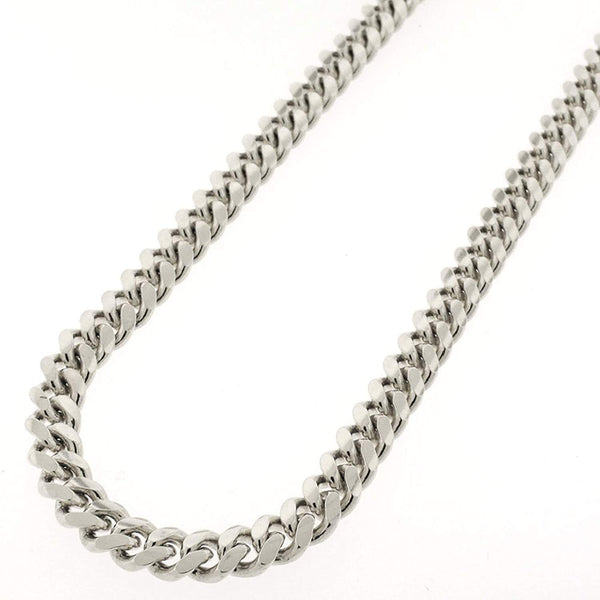 Giorgio Bergamo Chain Sterling Silver 7mm Miami Cuban Link Rhodium Chain