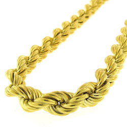 Giorgio Bergamo Chain Sterling Silver 9mm Hollow Rope Yellow Gold Chain