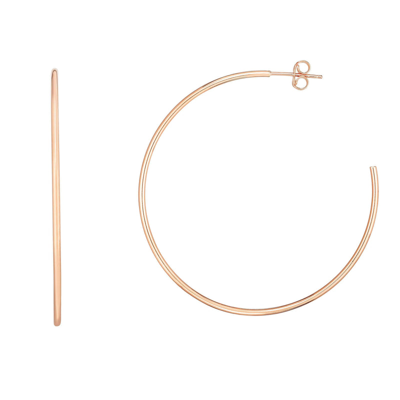 Giorgio Bergamo Earrings 14kt Gold 50mm High Polish Hoop Earring
