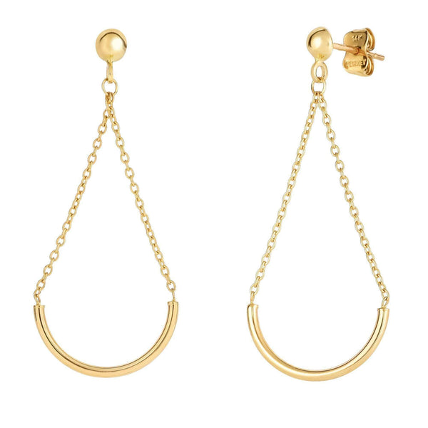 Giorgio Bergamo Earrings 14kt Gold Half Circle Drop Earring MJER4193