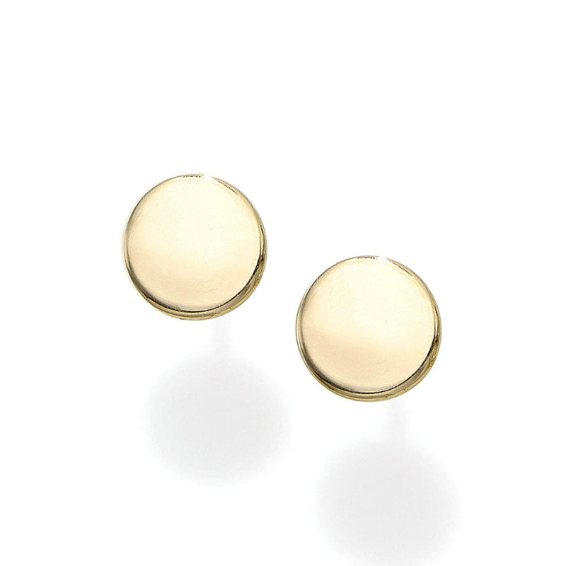 Giorgio Bergamo Earrings 14kt Gold Polished Circle Stud Earring MJER8802