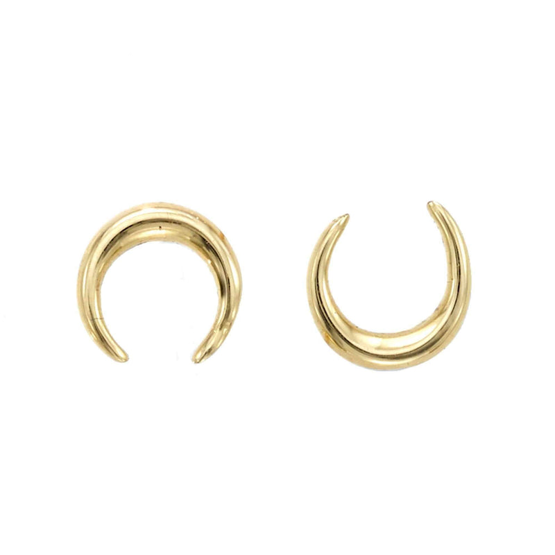 Giorgio Bergamo Earrings 14kt Gold Polished Crescent Moon Stud Earring MJER5847
