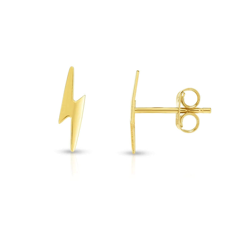 Giorgio Bergamo Earrings 14kt Gold Polished Lightning Bolt Stud Earring MJER6981