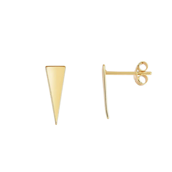 Giorgio Bergamo Earrings 14kt Gold Polished Long Triangle Stud Earring MJER4131