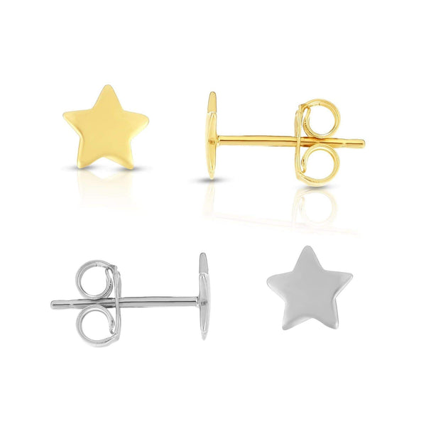 Giorgio Bergamo Earrings 14kt Gold Polished Star Stud Earring