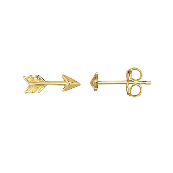 Giorgio Bergamo Earrings 14kt Gold Textured Arrow Stud Earring MJER4171