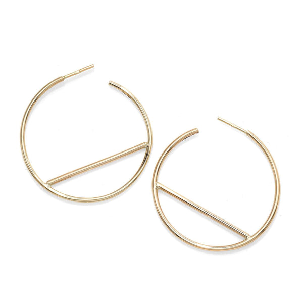 Giorgio Bergamo Earrings 14kt Gold Trendy Hoop Earring MJER8841