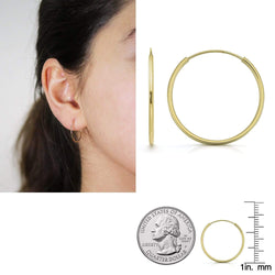 Giorgio Bergamo Earrings 18mm 14K Gold Endless Hoop Earrings, Size 10mm - 20mm and 3-Piece Sets 14kendlesshoop18mm