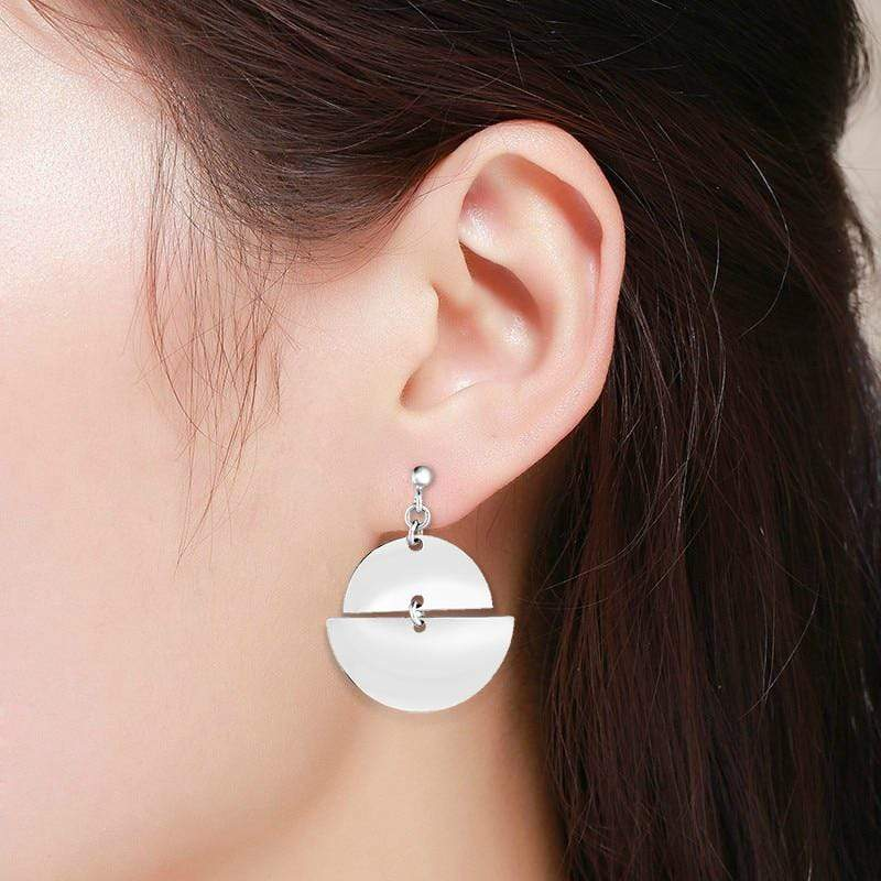 Giorgio Bergamo Earrings 925 Sterling Silver Fancy Dangle Abstract Drop Earring AGER8868