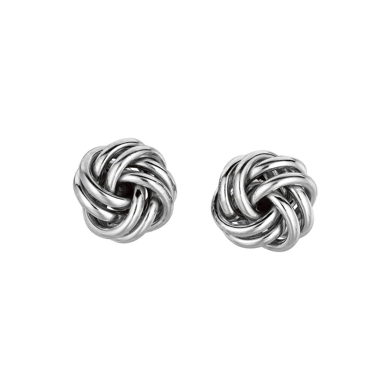 Giorgio Bergamo Earrings 925 Sterling Silver Polished Spread Love Knot Stud Earring AGS120