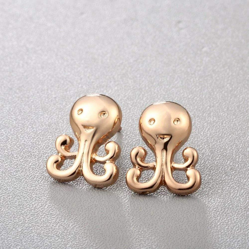 Giorgio Bergamo Earrings Gold Plated Octopus Stud Earring MJE0015