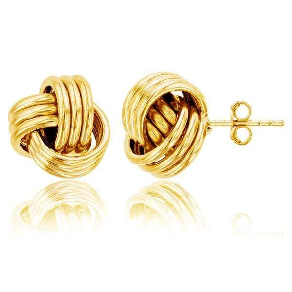 Giorgio Bergamo Earrings Yellow 925 Sterling Silver 12mm Polished Love Knot Stud Earring MJSSE462Y