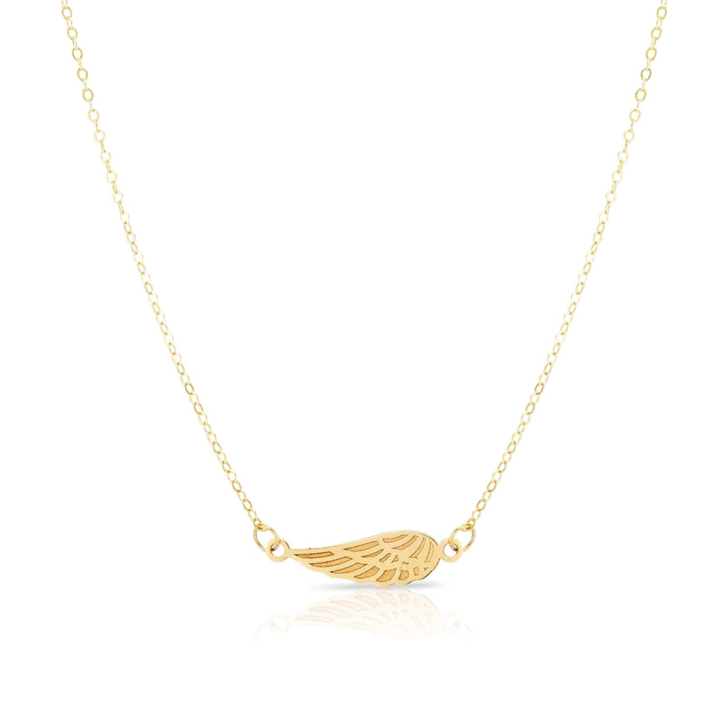 Giorgio Bergamo Jewelry 14kt Gold Angel Wing Pendant Necklace MJN2770