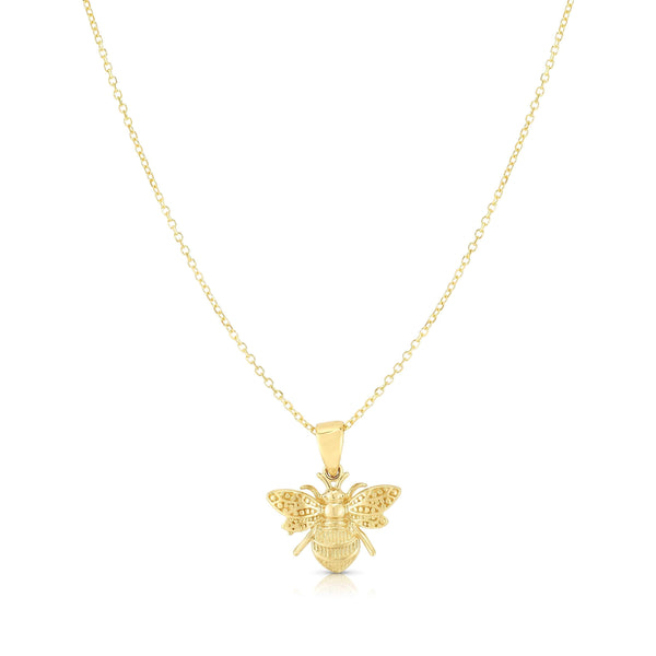 Giorgio Bergamo Jewelry 14kt Gold Bumblebee Pendant Necklace SET2997-18