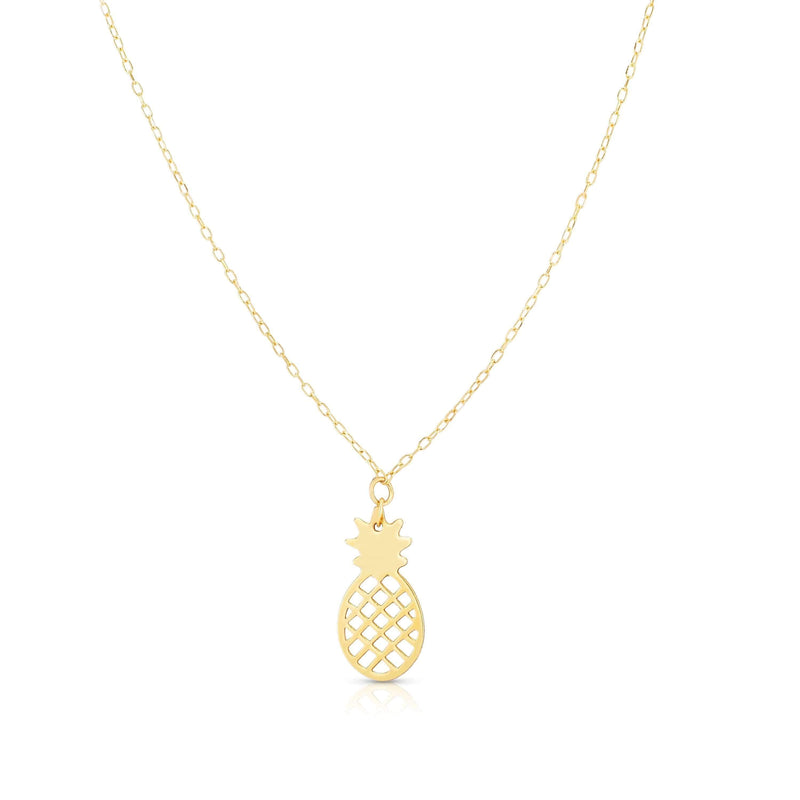 Giorgio Bergamo Jewelry 14kt Gold Cut Out Pineapple Pendant Necklace MJRC1549