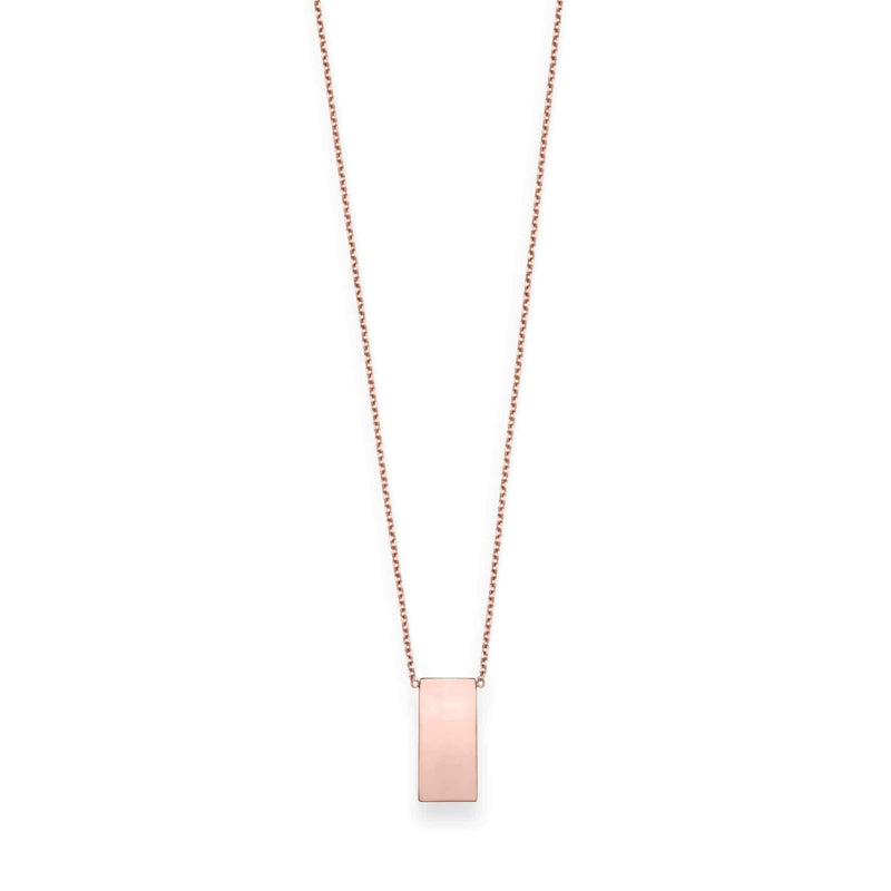 Giorgio Bergamo Jewelry 14kt Gold Engraveable Vertical Bar Necklace