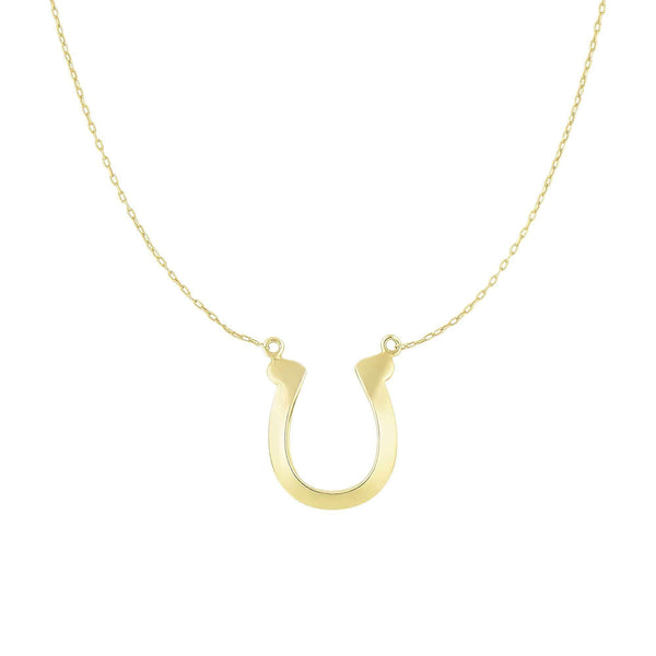 Giorgio Bergamo Jewelry 14kt Gold Lucky Horse Shoe Pendant Necklace MJN2770