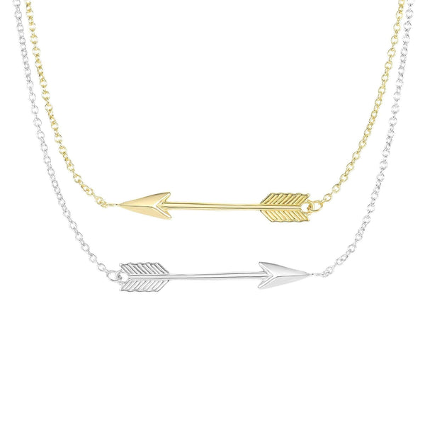 Giorgio Bergamo Jewelry 14kt Gold Textured Arrow Bar Necklace