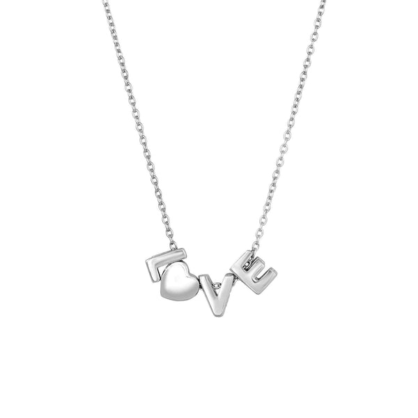 Giorgio Bergamo Jewelry 925 Sterling Silver Love Necklace MJAGN2987