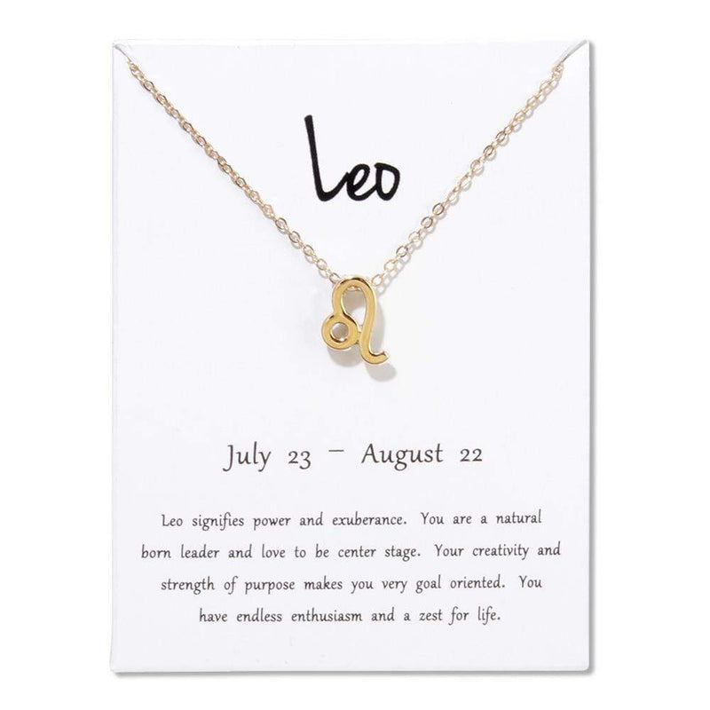 Giorgio Bergamo Jewelry Leo Gold Plated Zodiac, Horoscope, Pendant Necklaces MJZP108