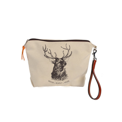 Rebecca Ray Designs - Burghley Pouch with Stag Design - Closeout - Made in America