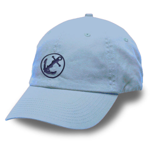 Julie Anchor Logo Unstructured Washed Twill Cap