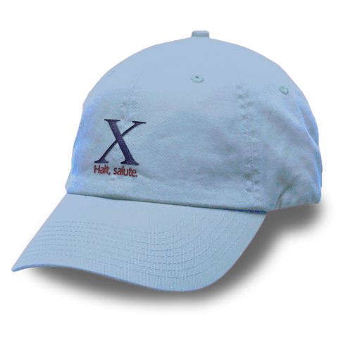 X Halt Salute Logo Unstructured Washed Twill Cap