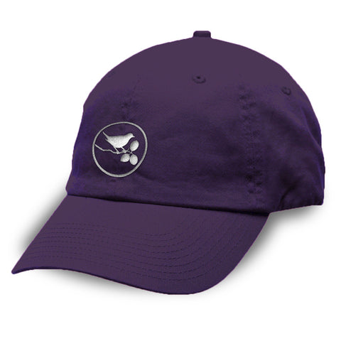 Julie Bird Logo Unstructured Washed Twill Cap