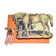 Horse with Dog Die Cut Correspondence Cards by Seven Barks