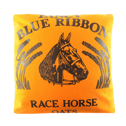 Maryann Down Pillow Fancy Blue Ribbon Horse
