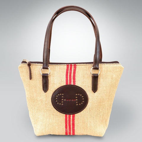 Special French Linen Brunch Bag with Hand Punched Bit Emblem