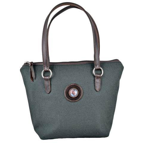 Special Woolrich Wool Brunch Bag with Bay Horse Head Rosette