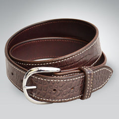 "1.5"" Embossed Cowhide Croc Belt"