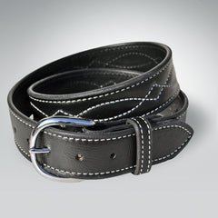 "1.5"" Select Leather Bridle Stitch Belt"