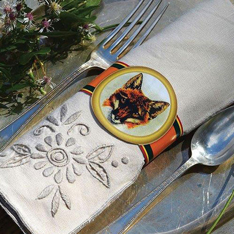 Equestrian Themed Full Color Napkin Wrap Set by Seven Barks