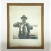 Vintage Photo & Frame of Proud Fisherman