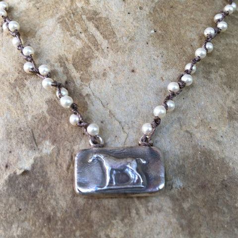Sterling Wedgwood Horse Necklace from Goodsport Favorites by Sally Lowe
