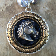 Horse Head Button Necklace from Goodsport by Sally Lowe