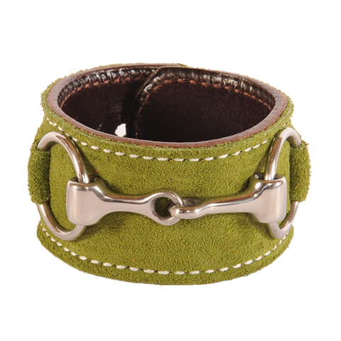 St Patricks Day Suede Stainless Steel Snaffle Cuff