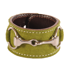 Suede Stainless Steel Snaffle Cuff