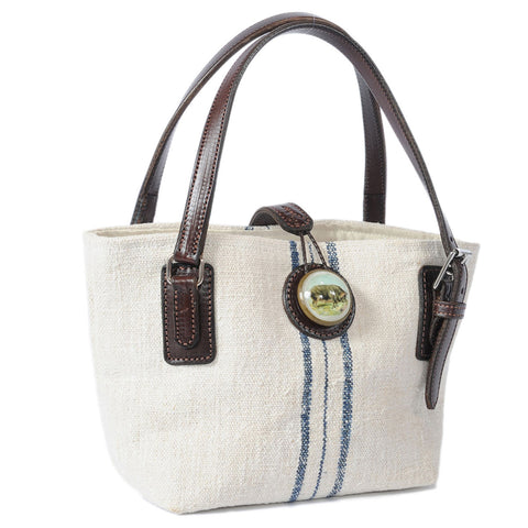Mini Trapper Handbag French Linen