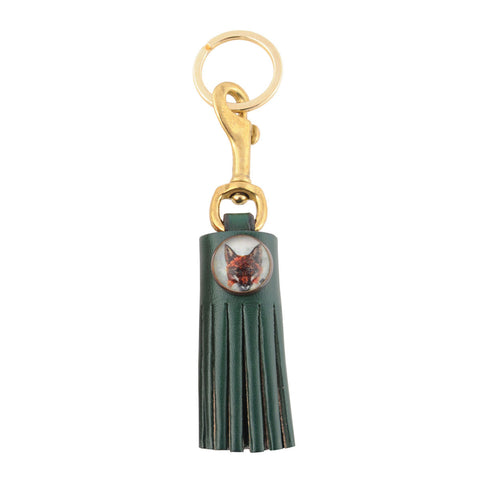 Rebecca Ray Designs - Classic Leather Tassel Key Fob with 18mm Animal Image Rosettes - Necklaces and Key Fobs - Made in America