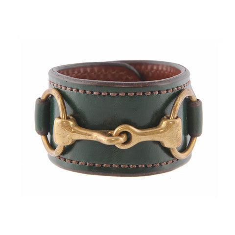Rebecca Ray Designs - Bit Cuff with Brass Snaffle Bit - Cuffs - Made in America
