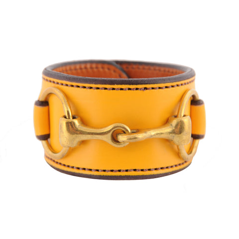 Closeout Colors - Bit Cuff with Brass Snaffle Bit