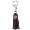 Croc Tassel Key Ring - Brown