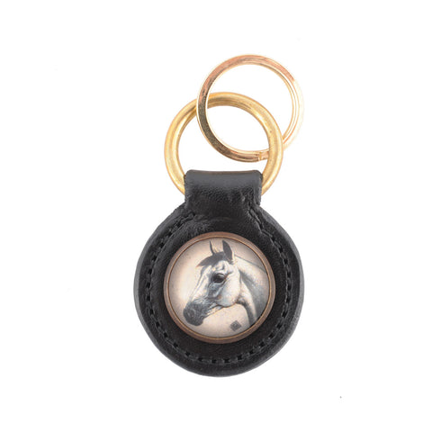 In Stock Pocket Size Key Ring - Black Leather