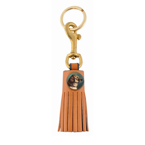 Classic Leather Tassel Key Ring - Natural