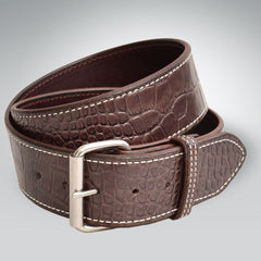 "2"" Embossed Cowhide Croc Belt"