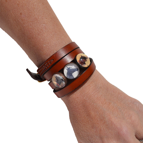 Rebecca Ray Designs - Classic Leather Wrap Slide Bracelet - Bracelet - Made in America