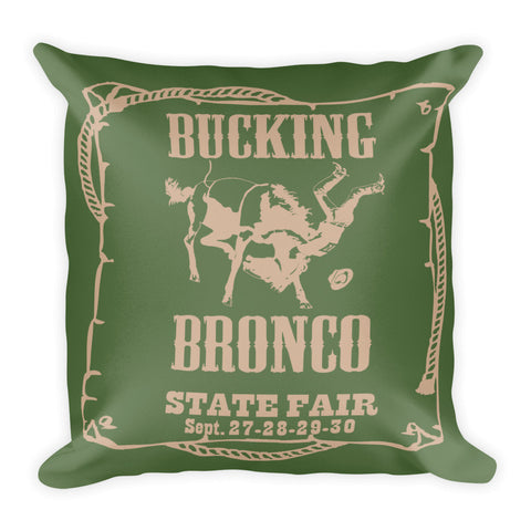 Bronco Pillow - Kale/Hazelnut